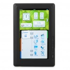 "7.0"" TFT Touch Screen E-Book Reader 720P Multimedia Player w/TF/Voice Recorder - Black (4GB)"