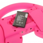 Rechargeable Game Steering Wheel with Speaker for Iphone 4 - Rose Red