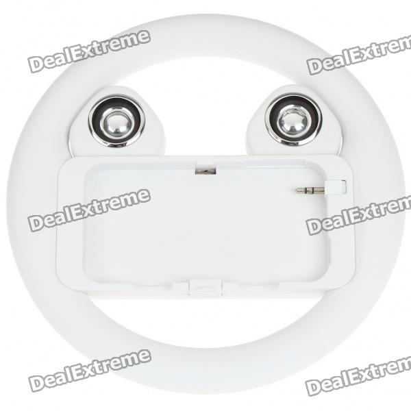 все цены на  Rechargeable Game Steering Wheel with Speaker for Iphone 4 - White  онлайн