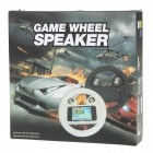 Rechargeable Game Steering Wheel with Speaker for Iphone 4 - White
