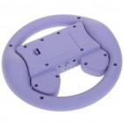 Rechargeable Game Steering Wheel with Speaker for Iphone 4 - Purple