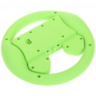 Rechargeable Game Steering Wheel with Speaker for Iphone 4 - Green