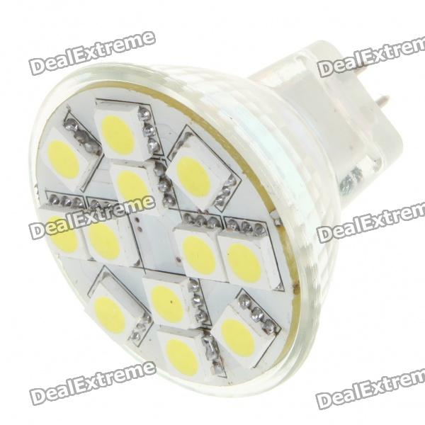 MR11 2.5W 50LM 6500K Cold White Light 12*5050 SMD LED Cup Bulb (DC12V)