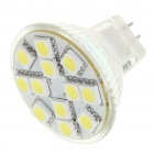 MR11 2.5W 6500K 50LM 12x5050 SMD LED White Light Bulb (DC 12V)