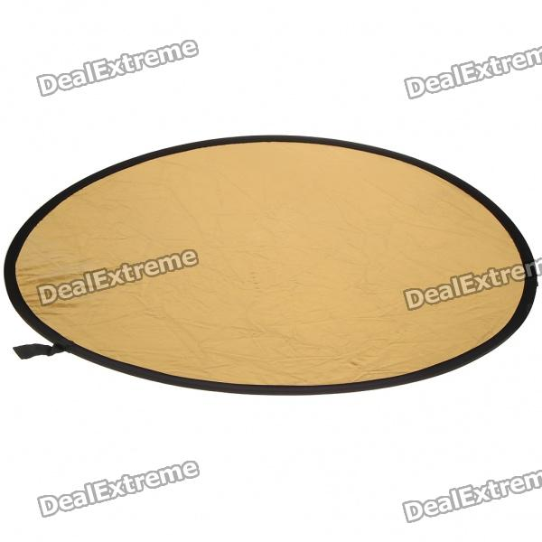 "2-in-1 43"" Gold/Silver Nylon Collapsible Reflector"
