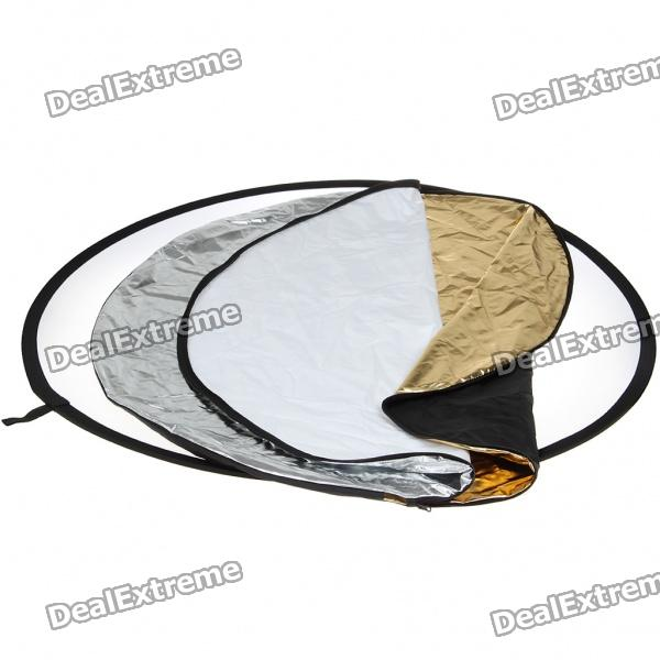 "5-in-1 43"" Multi Photo Light Collapsible Reflector - Silver"