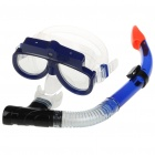 USB Rechargeable 1.3M Pixels Underwater Diving Mask Digital Camera Camcorder - Blue (4GB)