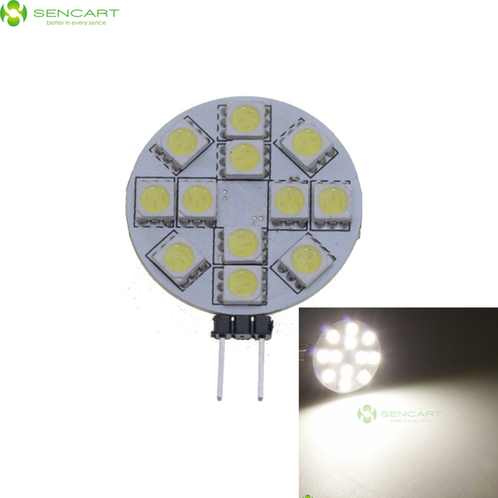 G4 2.5W 50LM 6500K Cool White Light 12*5050 SMD LED Plate Module (12V)
