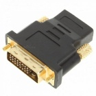 Gold Plated DVI 24+1 Male to HDMI Female Adapter