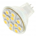 MR11 2.5W 3500K 50LM 12x5050 SMD LED Warm White Light Bulb (12V)