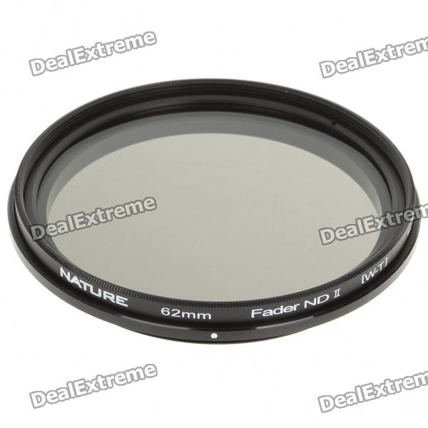 Neutral Density ND2-ND400 Fader ND Filter (62mm) fotga neutral density nd2 nd400 fader nd filter 72mm