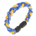 Stylish Sports Nylon Energy Woven Bracelet - Yellow + Blue