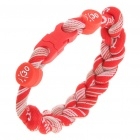 Stilvolle Sports Nylon Energie Woven Bracelet - Red