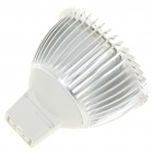 MR16 3W 3-LED Slots Aluminum Alloy Bulb Shell