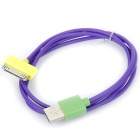 USB Charging/Data Cable for iPhone 2G/3G/3GS/4 - Purple (95CM-Length)