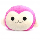 Cute Monkey Face Pillow Cushion - Pink + White