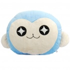 Cute Monkey Face Pillow Cushion - Blue + White