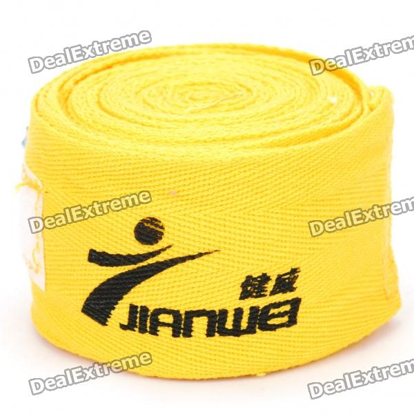Cotton Sports Bandage/Hand Wraps - Yellow (Pair)