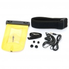 Waterproof Bag Case with Earphone & Strap for Cell Phone - Yellow