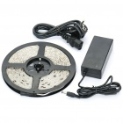 Waterproof 24W 1700LM 300x3528 SMD LED Blue Light Flexible Strip w/ Power Adapter (5-Meter/DC 12V)
