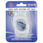 3-Mode 2-LED Vit Light Tie-On Bike Light Nyckelringar - Vit (Par / 1 x CR2032)