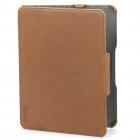 Genuine Optima Protective PU Leather Case for   Ipad - Coffee