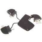 Compact USB to Mini USB/Micro USB/DC 2.0mm Charging/Data Cable Adapter