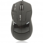 USB Wired 600/1000/1600/2400DPI Optical Mouse- Black (148CM-Length)