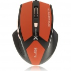 USB Wired 600/1000/1600/2400DPI Optical Mouse- Black + Orange (148CM-Length)