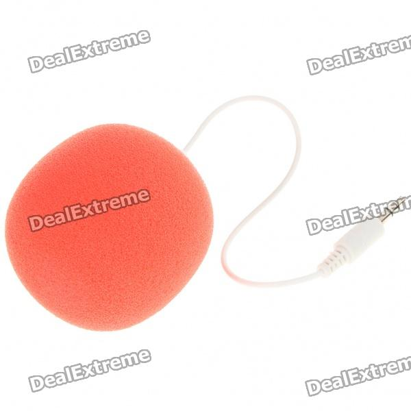 Cute Mini Balloon Style USB Rechargeable Speaker w/ 3.5mm Audio Jack - Red