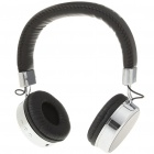 USB Rechargeable Headphone MP3 Player with FM/TF/3.5mm Audio Jack - Black