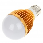 E27 5W 5-LED Aluminum Bulb Accessories Shell - Golden + Silver