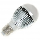 DIY E27 5W 5-LED Aluminum Bulb Accessories Shell - Silver