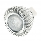 3W/1W 1-LED Aluminum Bulb Accessories Shell - Silver
