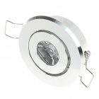 1W 1-LED Aluminum Bulb Accessories Shell - Silver