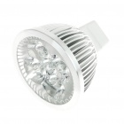 GU5.3 4W 4-LED Aluminum Bulb Accessories Shell - Silver