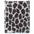 Stylish Leopard Pattern Protective Back Case for Ipad 2 - Black