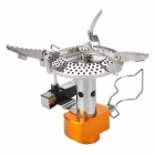 Outdoor Camping Mini Portable Gas Stove w/ Electronic Firing - Silver