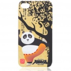 Cute Kung Fu Panda Po Pattern Protective Back Case w/ Screen Guard + Cleaning Cloth for iPhone 4