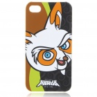 Cute Kung Fu Panda Racoon Pattern Protective Back Case w/ Screen Guard + Cleaning Cloth for iPhone 4