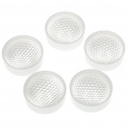24mm 90-Degree Acrylic LED Reflector Lens for Lumileds/CREE/SSC/Edison - White (5-Pack)