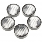 24mm 120-Degree Acrylic LED Reflector Lens for Lumileds/CREE/SSC/Edison - Black (5-Pack)