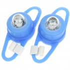 Multicolored 2-Mode Tie-On Bicycle Lights - Blue (Pair / 2 x CR2032)