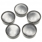 24mm 90-Degree Acrylic LED Reflector Lens for Lumileds/CREE/SSC/Edison - Black (5-Pack)