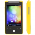 "3.2"" Touch Screen Android Dual SIM Dual Network Standby Quadband GSM Cell Phone w/ WiFi/GPS- Yellow"