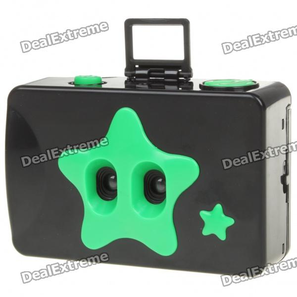 Twins Star 35mm Film Dual Lens Camera - Black + Green