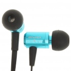 In-Ear Earphone with Microphone for iPhone - Blue + Black (3.5mm-Jack / 119cm-Cable)