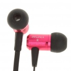 In-Ear Earphone with Microphone for iPhone - Red + Black (3.5mm-Jack / 119cm-Cable)