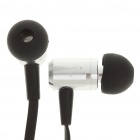 AWEI In-Ear Earphone with Microphone for Iphone - Silver + Black (3.5mm-Jack / 119cm-Cable)