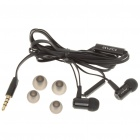 In-Ear Earphone with Microphone for Iphone - Black (3.5mm-Jack / 119cm-Cable)